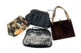 Oriental embroidered ladies handbag with beaded decoration