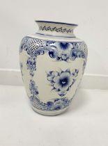Large Delft type vase