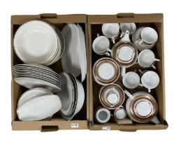 Two Polish part dinner services by Chodziez and Jarolina in two boxes