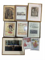 Collection of reproduction sheet music and one Victorian cpover and musical York interest picture (9