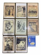 Collection of reproduction sheet music posters (9)