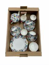 Royal Cauldon Victoria pattern tea set for six