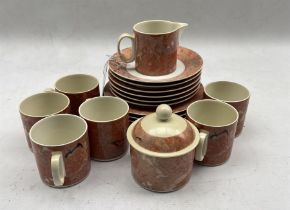 Villeroy and Boch Siena pattern coffee set 20 pieces