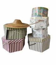 Collection of ladies hats and hat boxes
