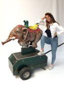 Large Mechanic Elephant Fairground Attraction