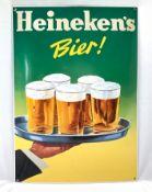 Dutch enamel sign Heineken's bier