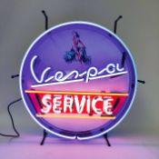 Vespa Service Neon Sign