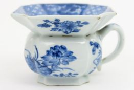 because of the small size rare 17th/18th Cent. Chinese Kang Xi spittoon in porcelain with a blue