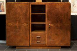 Belgian thirties' Art Deco sideboard in mahogany Belgisch Art Deco-dressoir in acajou met twee volle