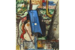 "French mixed media painting - signed A. Derain A. DERAIN (?) Frans werk in gemengde techniek : """