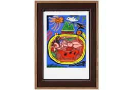 typical Corneille screenprint in colors - signed and dated 1996 CORNEILLE (1922 - 2010) (1922 -