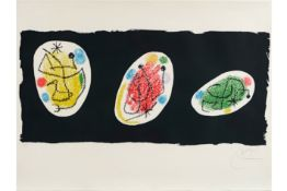 """Joan Miro """"Revue XXe Siècle"""" lithograph printed in colors - signed MIRO JOAN (1893 - 1983)"""