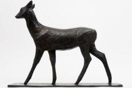"""Rembrandt Bugatti """"Biche américaine"""" sculpture in bronze (cire perdue) - signed - posthumous work to"""