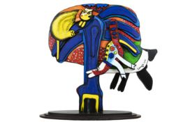 typical Corneille sculpture in painted wood - titled, signed and to be dated in 1993 CORNEILLE (1922