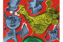 typical Corneille screenprint in colors - signed and dated 1995 CORNEILLE (1922 - 2010) (1922 -