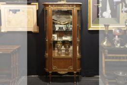 SORMANI PAUL (1817 - 1877) mooi Frans neoclassicistisch vitrinemeubeltje met rank model in