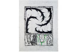 "ALECHINSKY PIERRE (° 1927) kleurlitho op rijstpapier (E.A.) n° 14/20 getiteld ""Différence Naturelle"""