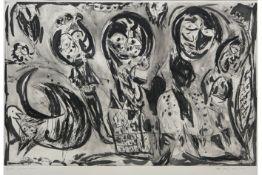 "PEDERSEN CARL-HENNING (1913 - 2007) grote ets n° HC 1/10 getiteld : ""Le grand Meaulnes"" - 75 x 115"
