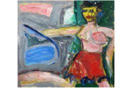 """ELIAS ETIENNE (1936 - 2007) olieverfschilderij op doek op verso getiteld """"Plezier"""" - 89 x 100 op"""
