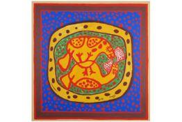 CORNEILLE (1922 - 2010) (1922 - 2010) screenprint op doek n° EA 11/13 met een karakteristieke