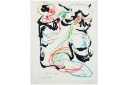 DOTREMONT CHRISTIAN (1922 - 1979) & APPEL KAREL (1921 - 2006) zeefdruk in kleuren n° EA uit de
