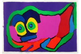 APPEL KAREL (1921 - 2006) kleurlitho met typische compositie - 58 x 84 getekend||20th Cent. Dutch