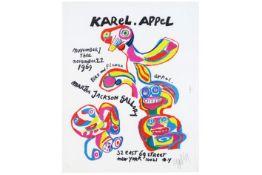 """APPEL KAREL (1921 - 2006) litho in kleuren voor de """"Martha Jackson"""" gallery - 60 x 48 getekend en"""