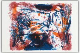 """JORN ASGER (1914 - 1973) kleurlitho uit de portfolio """"Die Geschichte vom Teuren Brot"""" - 37 x 54"""