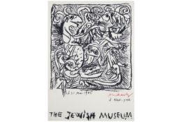 "ALECHINSKY PIERRE (° 1927) litho n° 111/125 : ""The Jewish Museum"" - 71 x 52 handgesigneerd en in"