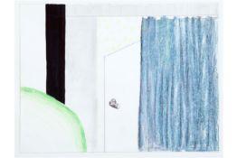 """RAVEEL ROGER (1921 - 2013) werk in gemengde techniek met een karakteristiek uitgewerkt thema : """""""
