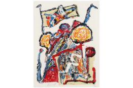 DOUCET JACQUES (1924 - 1994) kleurlitho (op handgemaakt Velin d'arches papier) n° 25/200 met een