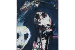 """VANDERCAM SERGE (1924 - 2005) olieverfschilderij op doek getiteld """"L'Homme de Tolund"""" - 46 x 38"""