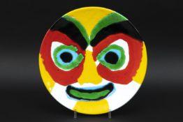 APPEL KAREL (1921 - 2006) ronde schaal in geglazuurde keramiek n° 4/6 met de kleurrijke voorstelling