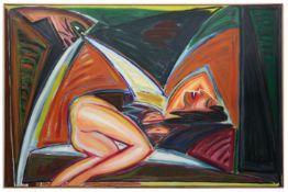 """THEYS YVAN (1936 - 2005) olieverfschilderij op doek met een liggend naakt op verso getiteld """"Venus"""