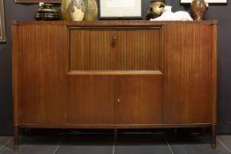 "Belgian Art Deco ""De Coene"" bureau/licquor cabinet in (sapelli) mahogany, model ""Voltaire""||DE COENE"