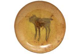 20th Cent. plate in earthenware signed José Vermeersch and dated (19)81||VERMEERSCH JOSE (1922 -