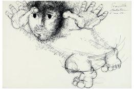 20th Cent. Belgian ink drawing - signed Roger Somville||SOMVILLE ROGER (1923 - 2014)