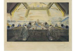 """Salvador Dali """"Last Supper"""" (dd 1982) etching - signed and with dry stamp