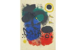 """Joan Miro signed Artist Proof lithograph printed in colors from the """"Album 19""""