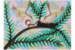 20th Cent. typical Pili-Pili acryl painting on canvas - signed||PILI PILI (1914 - 2007)  (Afrika) sc