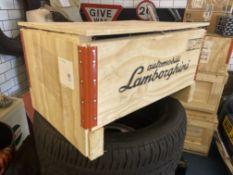 Genuine Lamborghini Wooden Parts Crate
