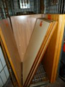 10 RESTAURANT SOLID TABLE TOPS MIXED SIZES NO RESERVE