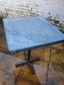 HEAVY DUTY METAL RESTAURANT INSIDE / OUTSIDE TABLE