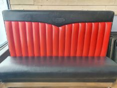 ORIGIONAL BIG MOE,S DINER RESTAURANT AMERICAN DINER BOOTH SEAT READ DESCRIPTION NO RESERVE
