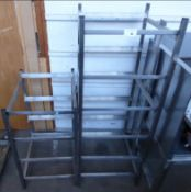 RESTAURANT STAINLESS STEEL DISWASHER TRAY RACKING NO RESERVE