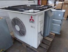 MITSUBISHI AIR CONDITIONING UNIT WITH 3 OTHER INTERNAL UNITS AND AIR EXCHANGE UNITS NO RESERVE