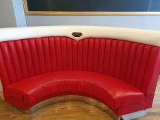 ORIGIONAL BIG MOE,S DINER RESTAURANT AMERICAN DINER CORNER BOOTH SEAT READ DESCRIPTION NO RESERVE