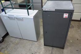 Steel frame 9 drawer storage cabinet and 2 door cupboard