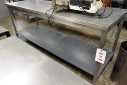 Stainless steel table, approx dimensions to be confirmed shortly