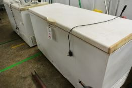 Two unbadged chest freezers, 240v